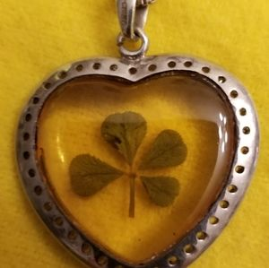 Sterling Silver 925 Necklace with Clover Pendant